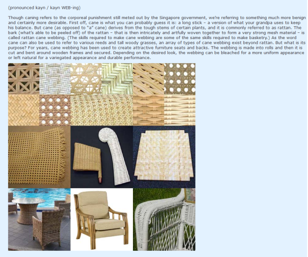 Different Types Of Chair Caning Google Search