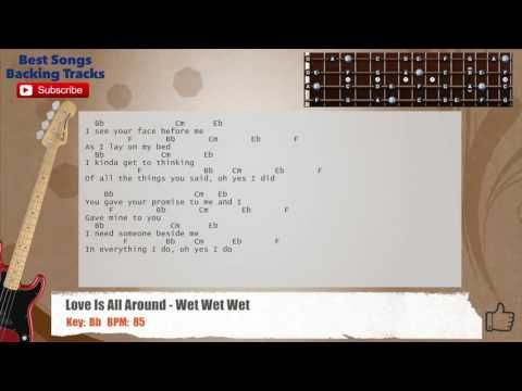Love Is All Around - Wet Wet Wet Bass Backing Track with chords and ...