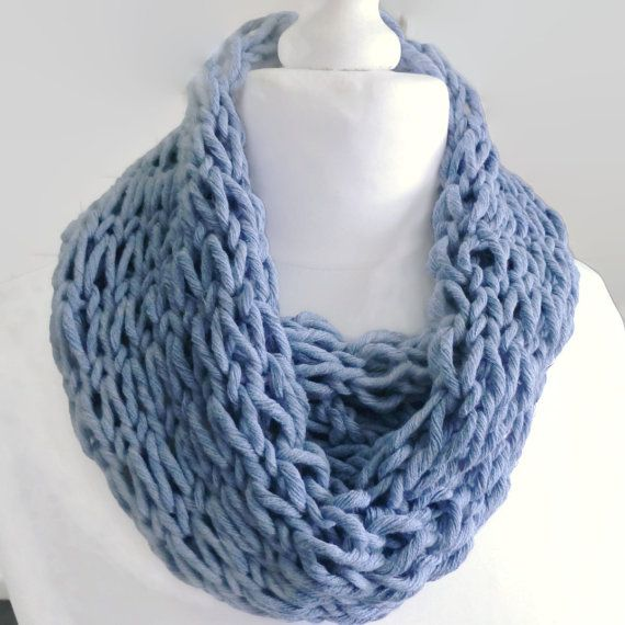 Blue infinity scarf luminous in the dark by HanoverMerryMakers, £18.00