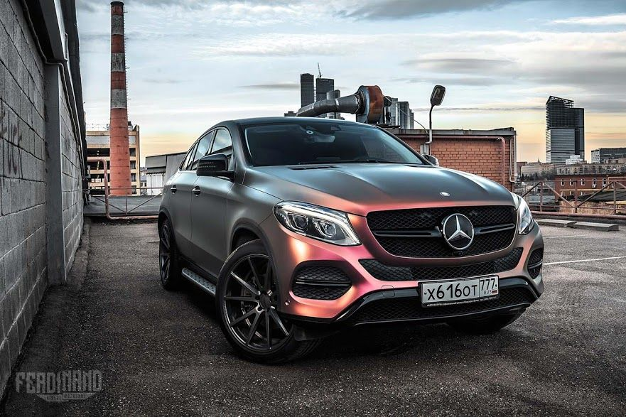 Mercedes Benz Gle Coupe Boasts The Wrap That Changes Colors Between Shades Of Pink