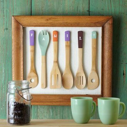 High Quality #Decorating: Paint And Frame Your #kitchen Utensils