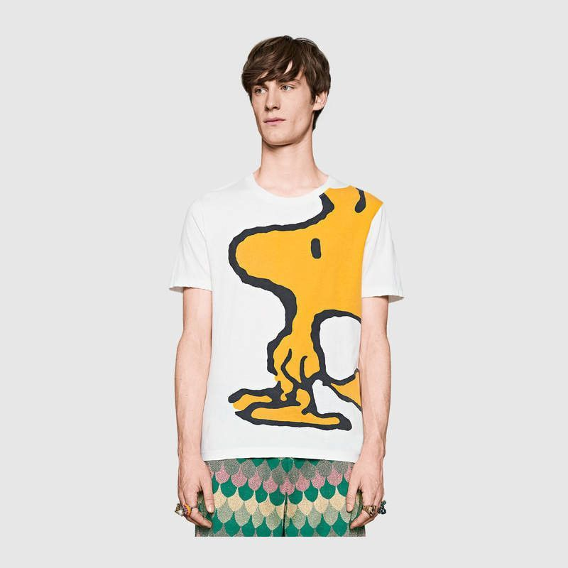 72c65208acc Gucci Washed T-shirt with Woodstock Print Snoopy