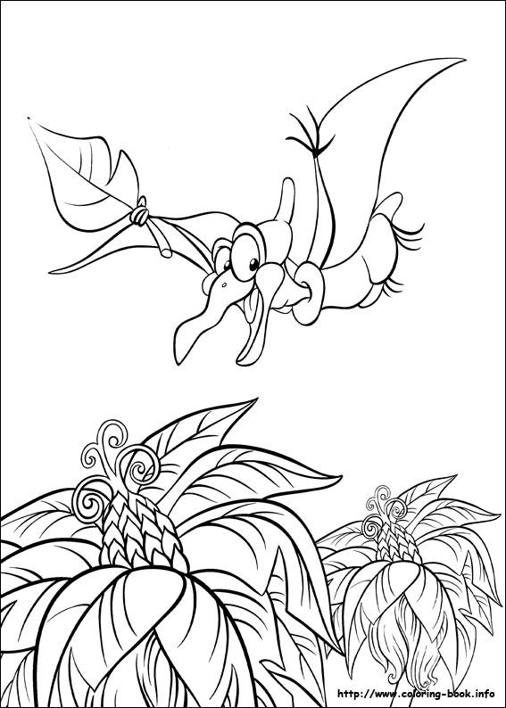 The Land Before Time Coloring Page Book InfoKids