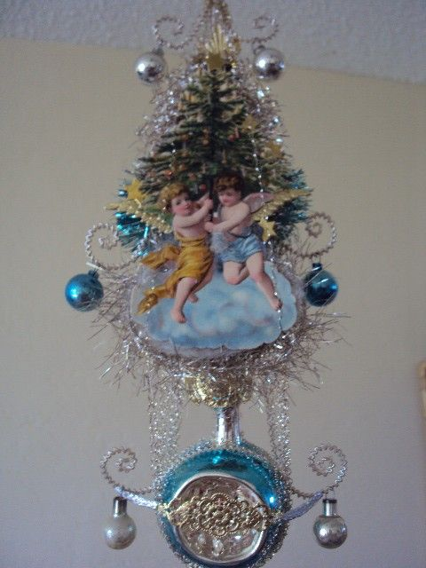 Antique Victorian Tree Topper Angels W