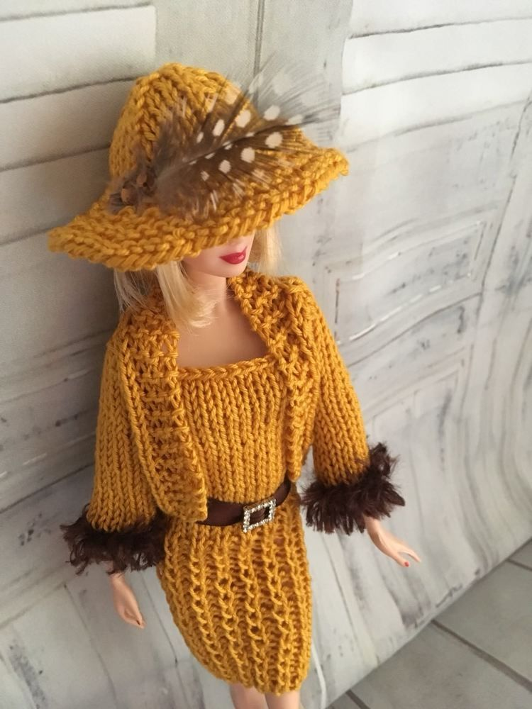 hand knitted barbie doll clothes / Outfit (With images ...