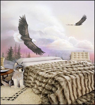 Southwestern American Indian Theme Bedrooms Mexican Rustic Style Decor Wolf