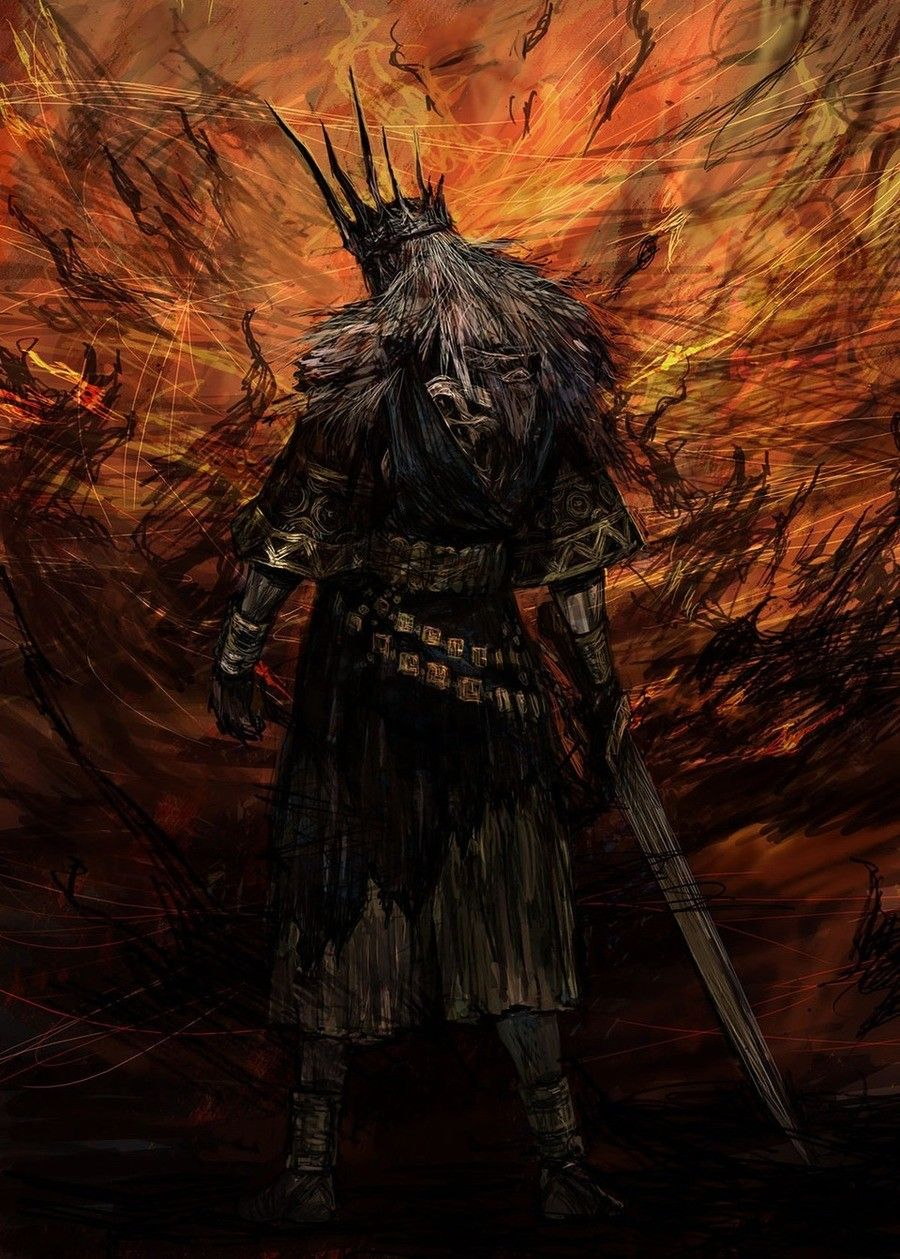 Souls Lore Gwyn Lord Of Cinder Beautifully Illustrated The