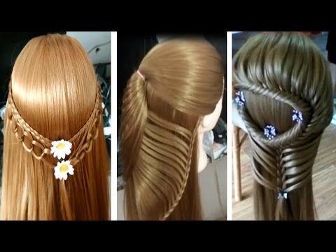 Peinados faciles bonitos para cabello Peinados para niña 2017 - peinados de nia faciles de hacer