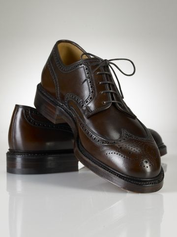 Marlow Wingtips by Ralph Lauren. Elegant Dress Shoe in Dark Brown. Expertly  made in England. Carefully crafted from smooth burnished cordovan leather  and ...