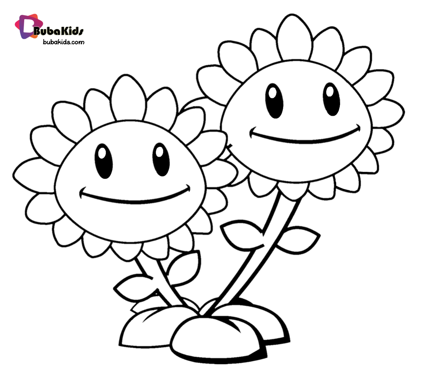 Tcute Sunflower Coloring Page For Toddlers Free And Printable Activity Cute For Su Sunflower Coloring Pages Plants Vs Zombies Birthday Party Plant Zombie