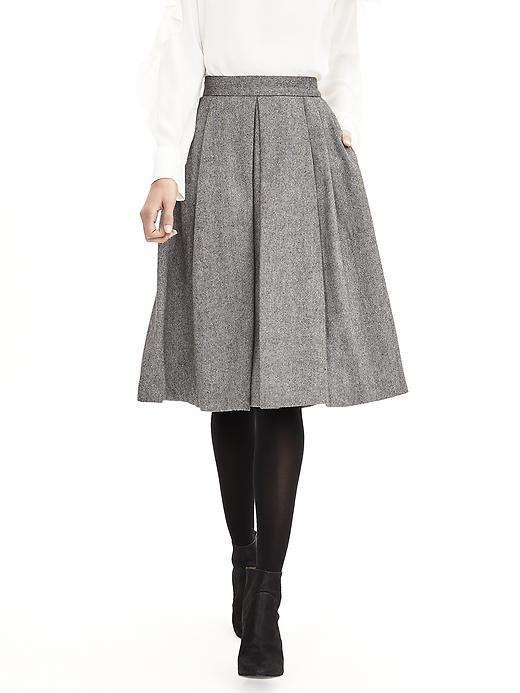 1041136ee Midi Skirt, gris tableada con medias negras   Faldas / Vestidos en ...