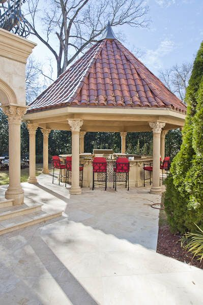 Gazebo With Outdoor Kitchen And Bar Dream Patio Outdoor Backyard Outdoor Kitchen