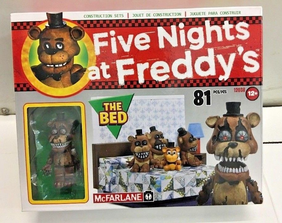 Five Nights At Freddy S The Bed Construction Set Fnaf Mcfarlane Lego Freddy Toys Five Nights At Freddy S Five Night