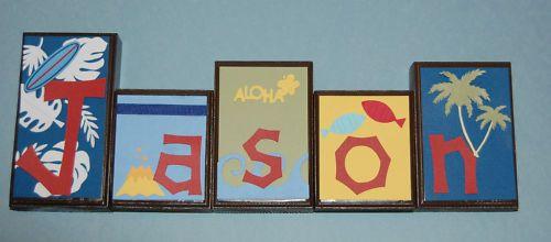 Surf room block letters