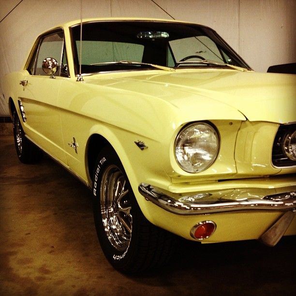 66 Mustang Parts >> Gorgeous Springtime Yellow 66 Mustang Coupe In Our Shop
