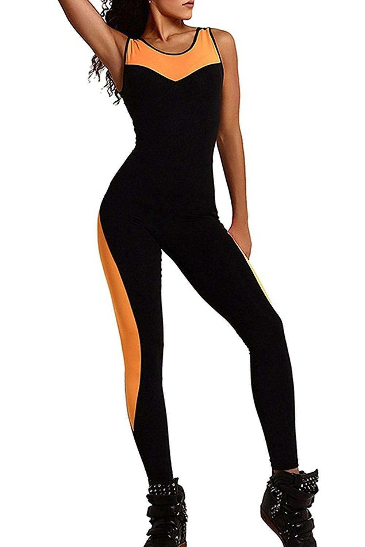 Tight Yoga Jumpsuit One Pieces Sleeveless Bandage Sport