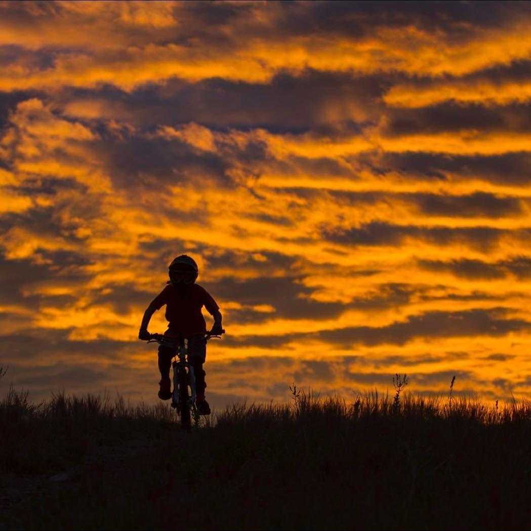 Resultado de imagen para riding bike sunset boy