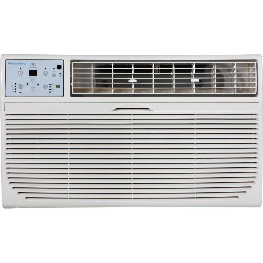 Keystone 10 000 Btu 115 Volt Through The Wall Air Conditioner With Lcd Remote Control White Wall Air Conditioner Air Conditioner With Heater Air Conditioner