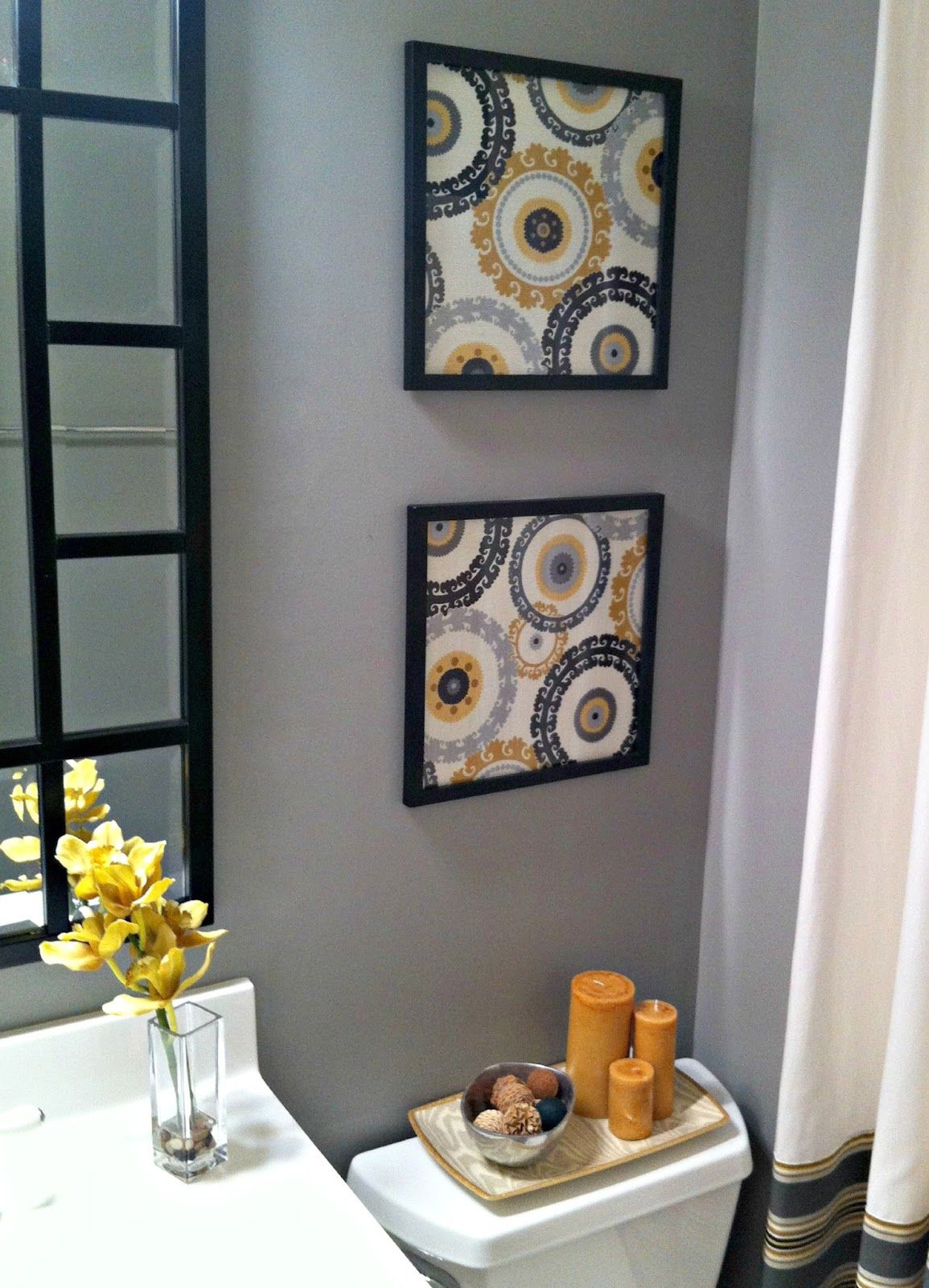diy projects to spruce up your space framed fabric guest bath