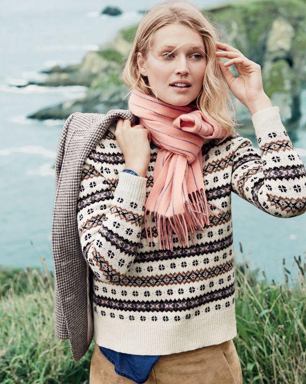 DEC '15 Style Guide: J.Crew women's Fair Isle crewneck sweater ...