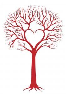 Pin by Glenda Johnson on Designs   Heart tree, Tree ...