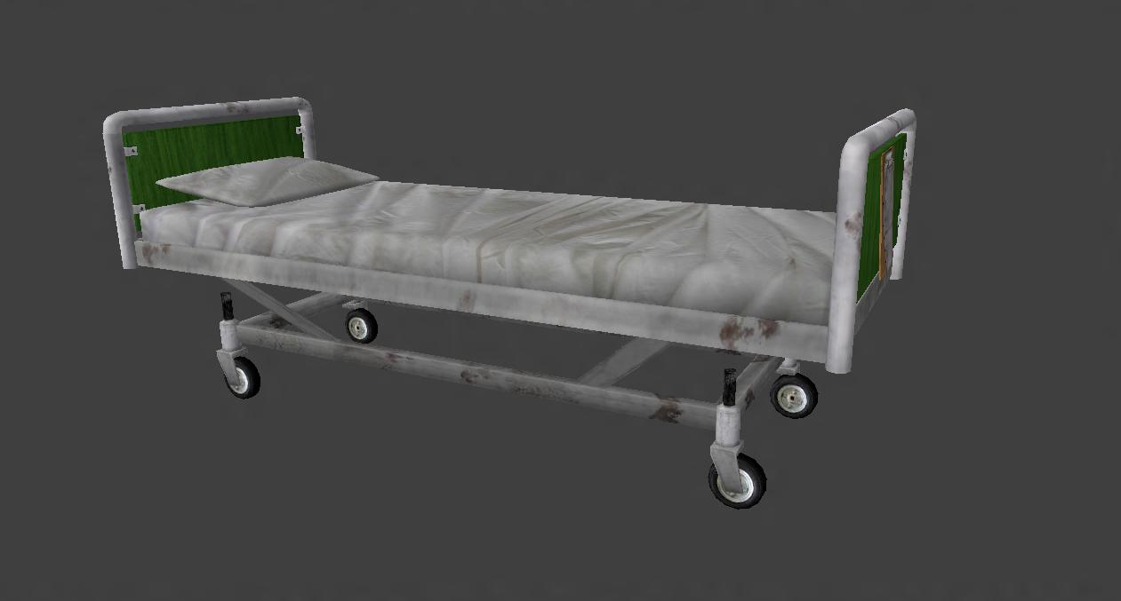 Low Poly Hospital Bed Hospital Bed Hospital Bed