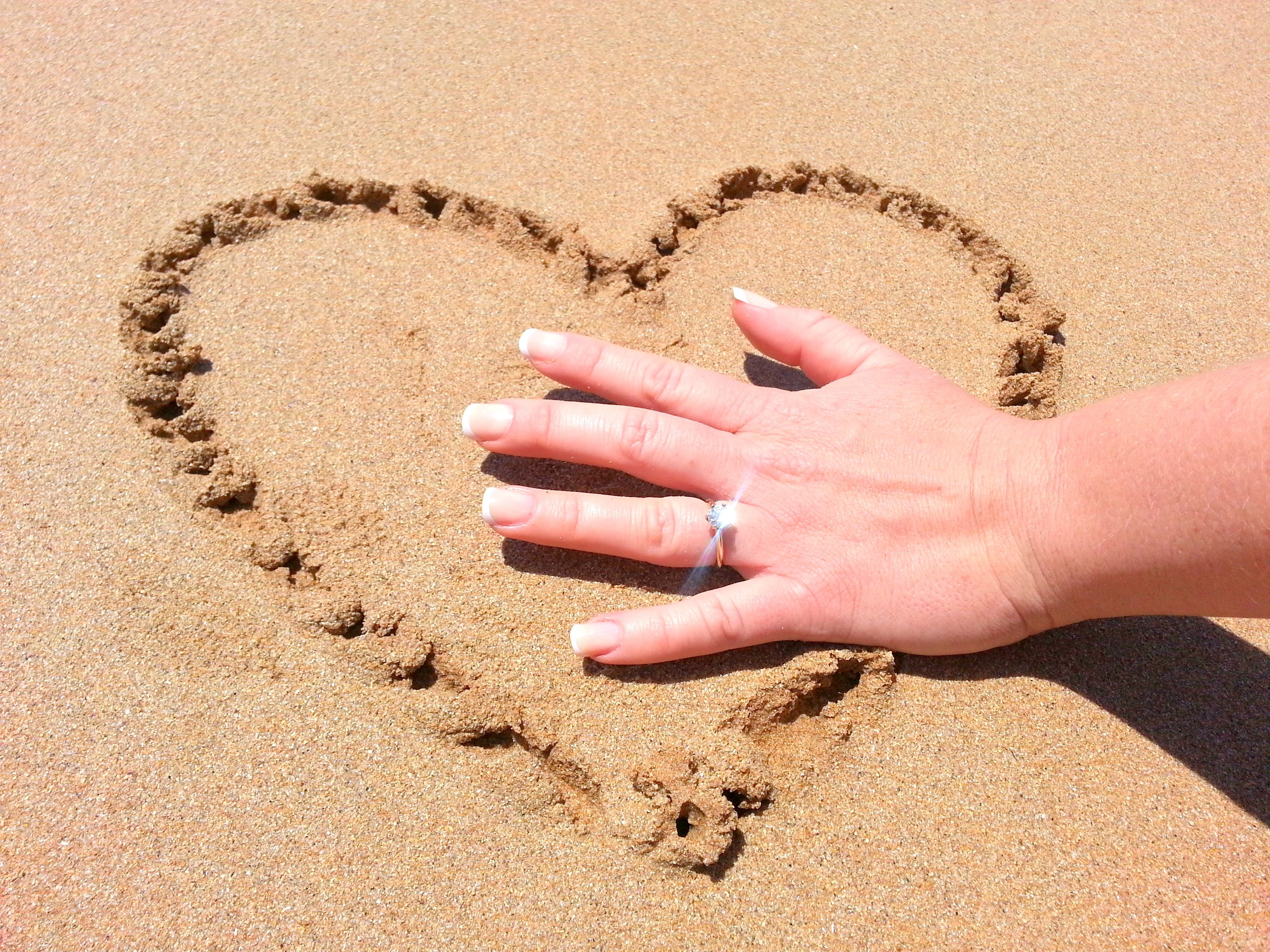 This photo of my beautiful engagement ring took place at the beach closest to our home. A perfect location to showcase my beautiful diamond that was handpicked with love by my incredible fiance.