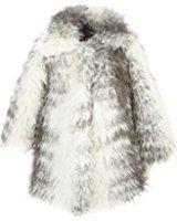 Lilax Little Girls' Faux Fur Coat Jacket
