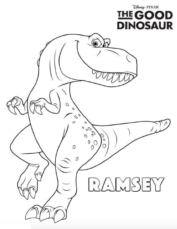 Kleurplaten Dinosaur Disney.Good Dinosaur Kleurplaten Kleurplaten Dinosaurussen En