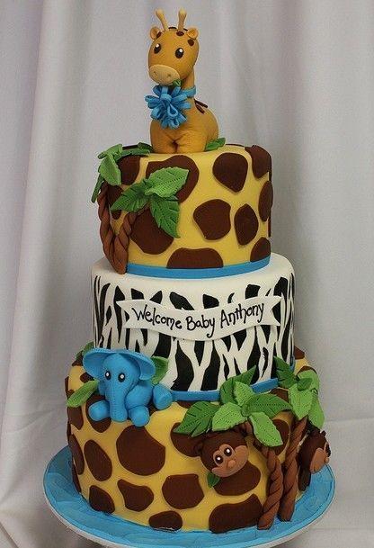 Pasteles. Jungle Theme Baby ShowerJungle ...