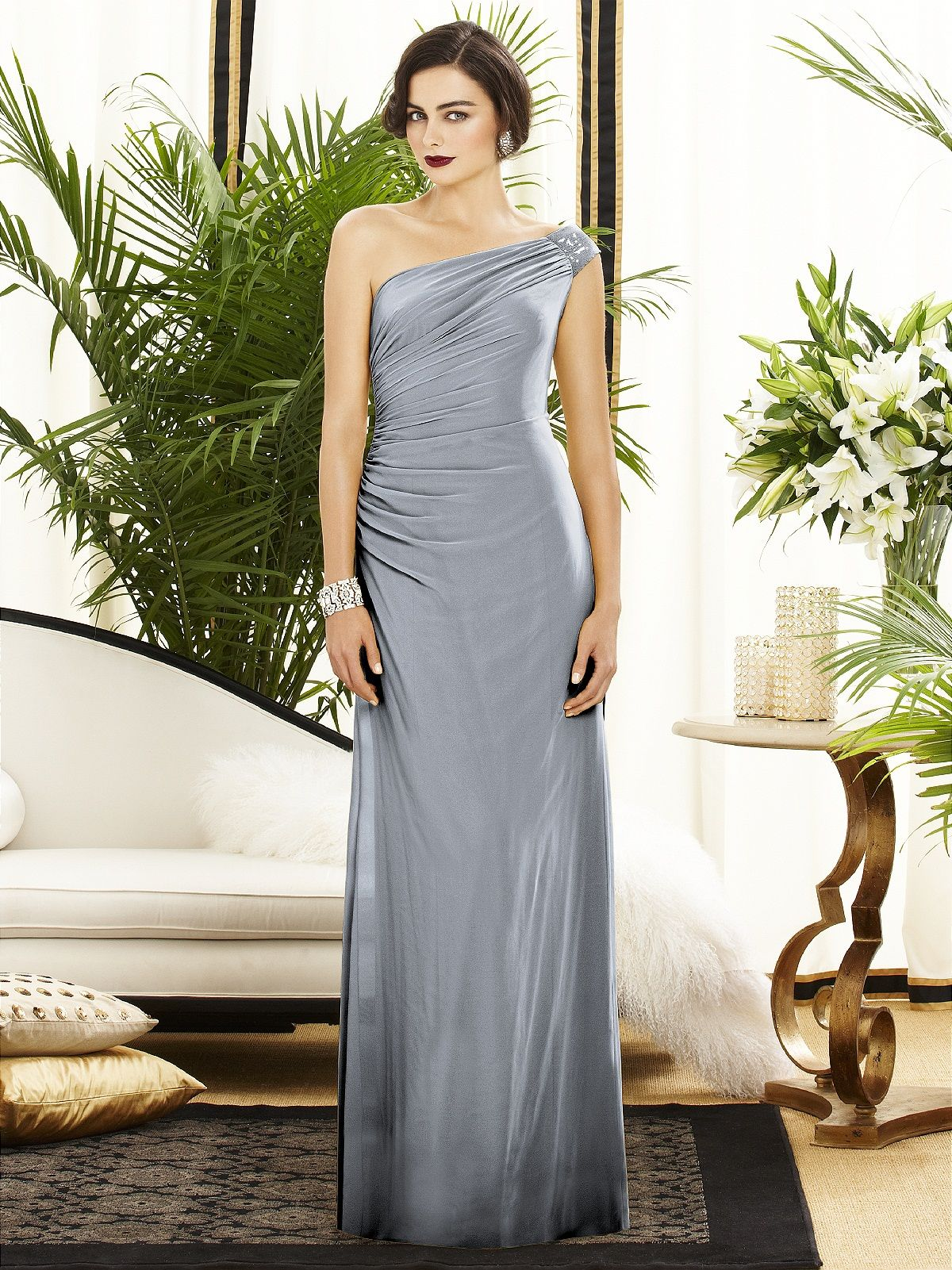 Dessy collection style 2884 fabric lux chiffon purchase swatch dessy collection style 2884 fabric lux chiffon purchase swatch full length one shoulder lux chiffon dress w draped bodice and covered sequin detail at ombrellifo Choice Image