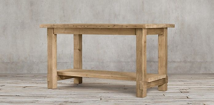 Salvaged Wood Kitchen Island Rectangular Table Restoration