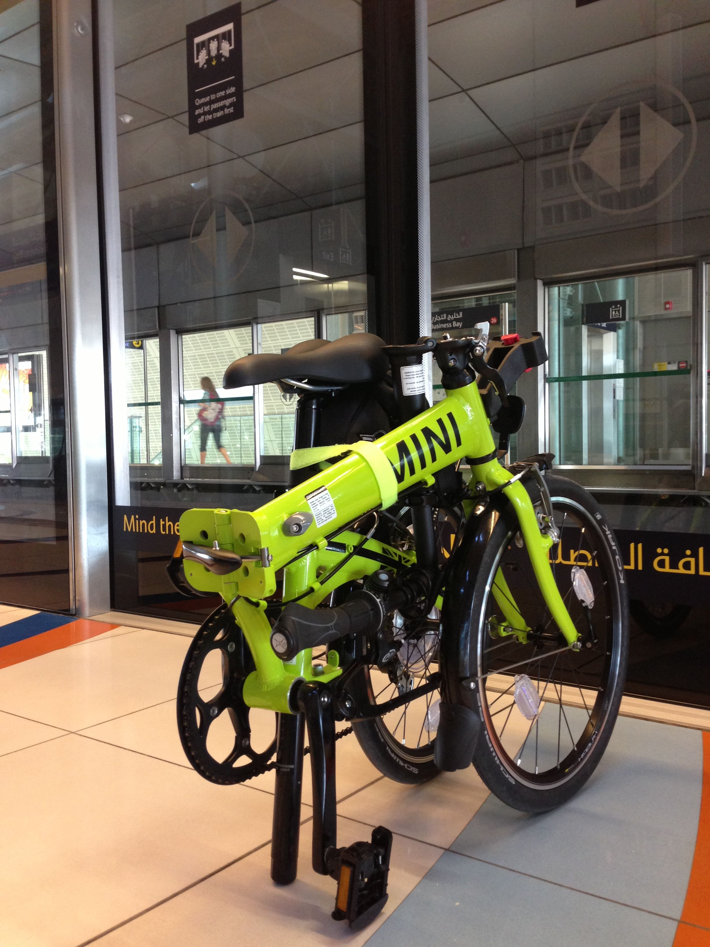 The Dubai Metro And A Mini Folding Bike 2 Most Efficient Modes Of