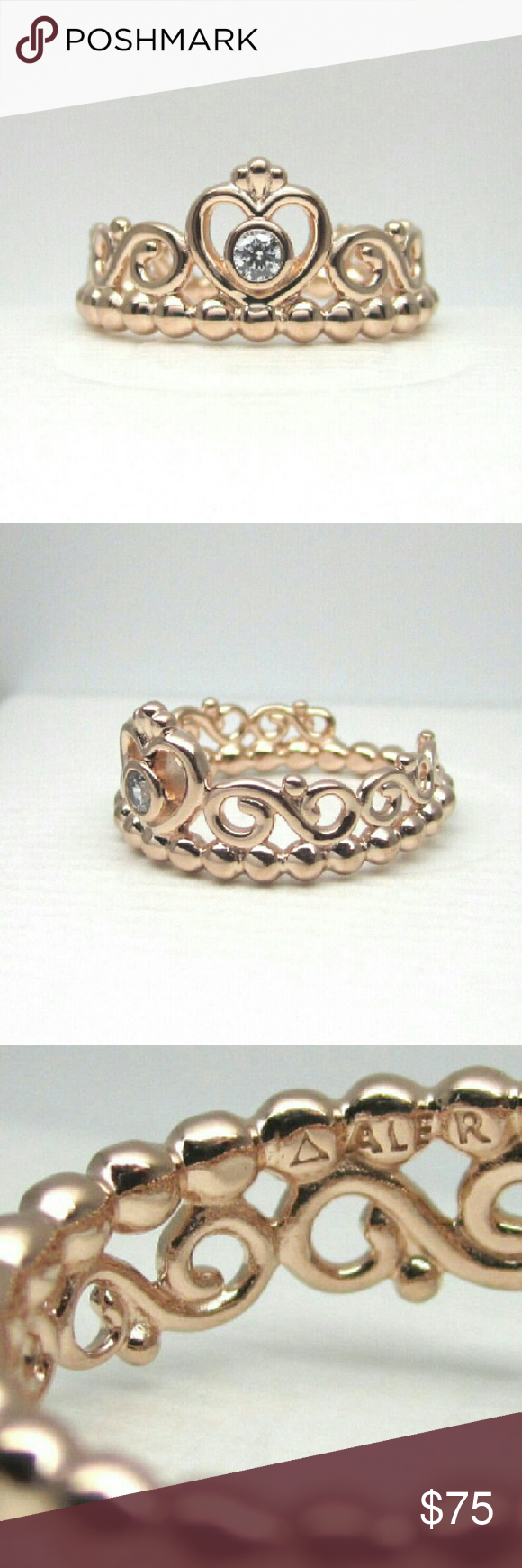Pandora Rose Gold My Princess Tiara Ring # 5 Pandora Rose