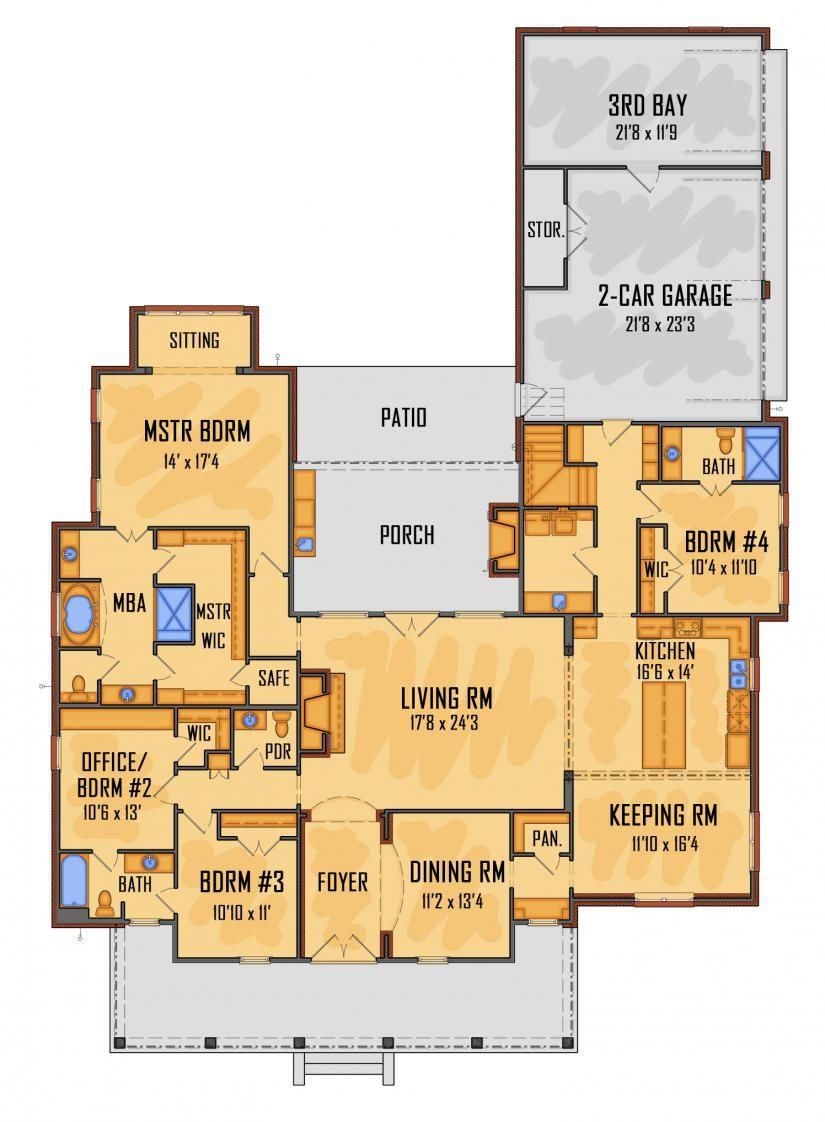 658702 Idg2813 New House Plans House Blueprints Simple House Plans