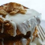 Cinnamon Toast Crunch French Toast with Cream Cheese Glaze! #breakfast #recipe wonkywonderful.com #cinnamontoastcrunch