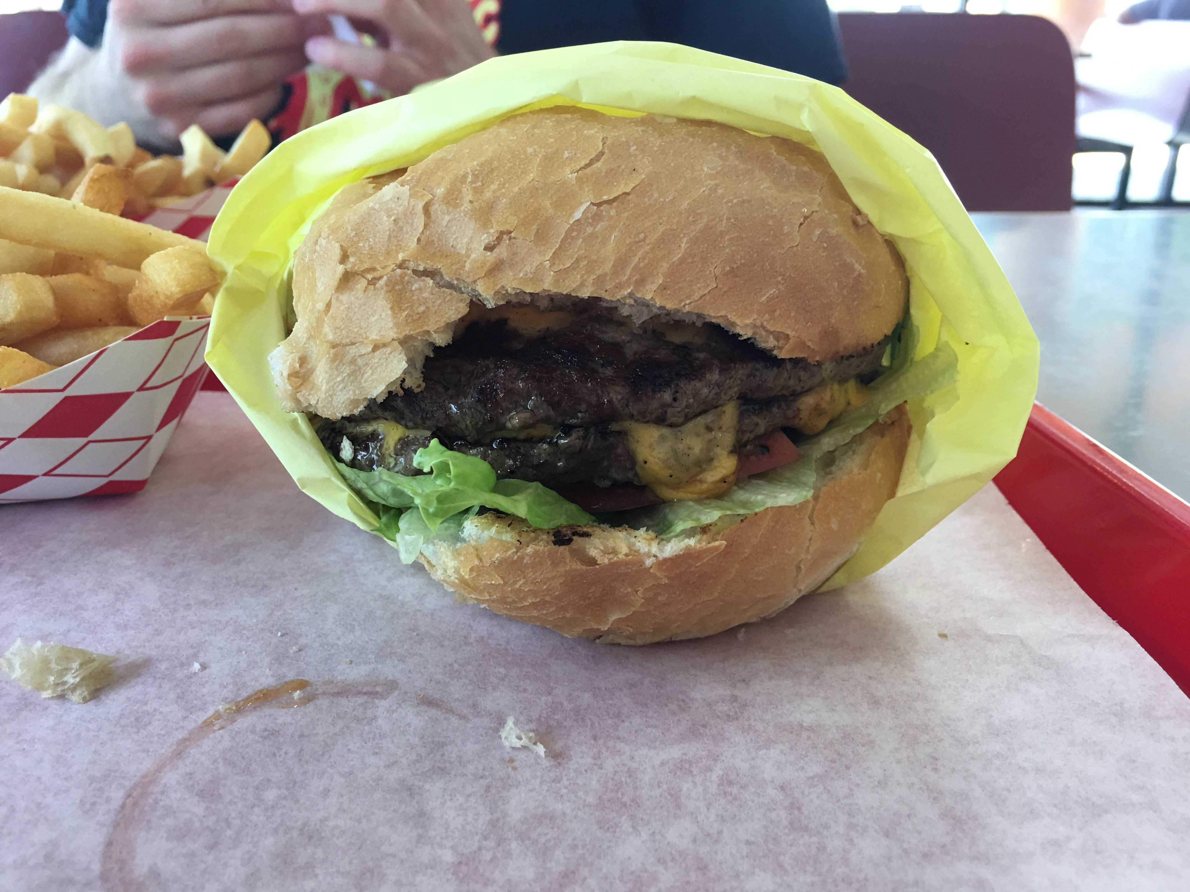 Double Burger Cheese From Junction In Sacramento Ca Best Burgers The Whole City