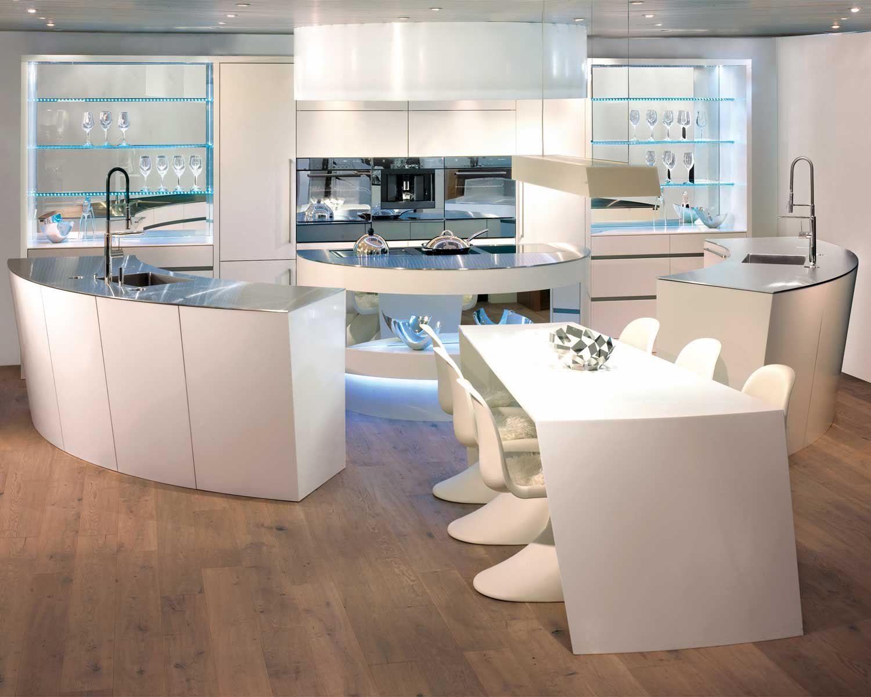 Brunner Küchen runde Küchen Kochinsel rund
