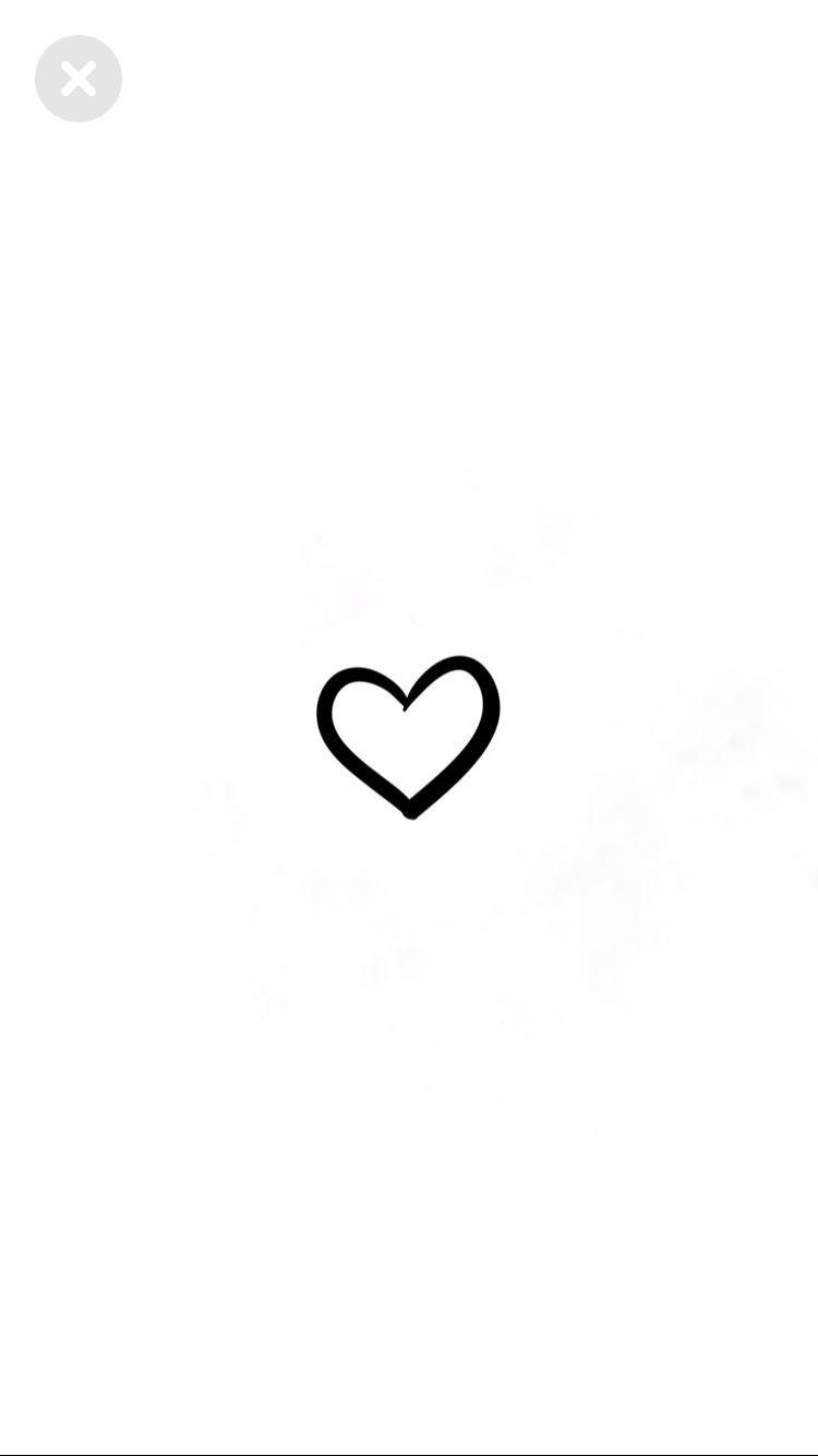 Instagram Highlight Aesthetic Black Heart Wallpaper