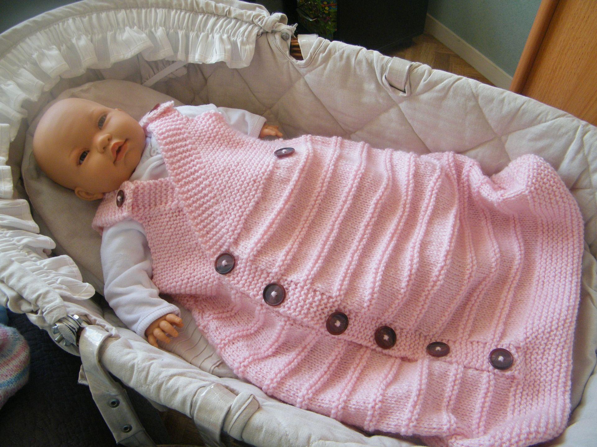 gigoteuse turbulette nidange tricot laine rose 0 6 mois mode pour b b pinterest. Black Bedroom Furniture Sets. Home Design Ideas