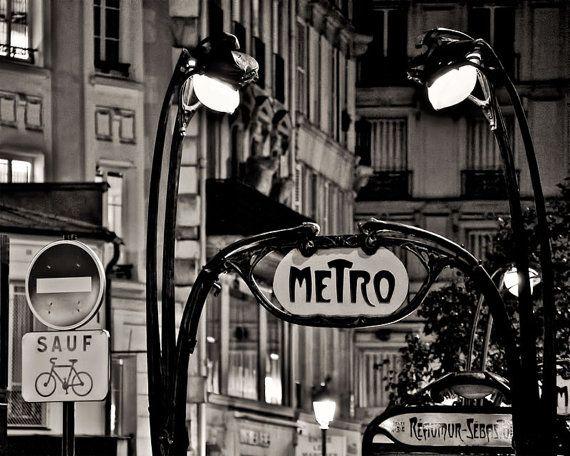 Paris metro art nouveau french wall art prints paris france black