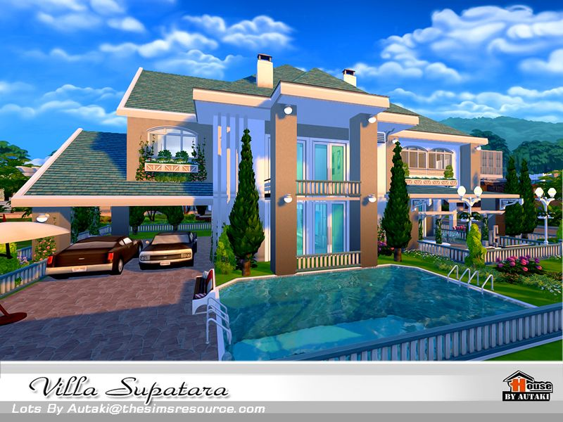 Villa Supatara Found In Tsr Category Sims 4 Residential Lots