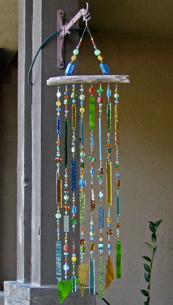 diy wind chimes | Stained Glass Wind Chime | DIY | Craft Ideas ...