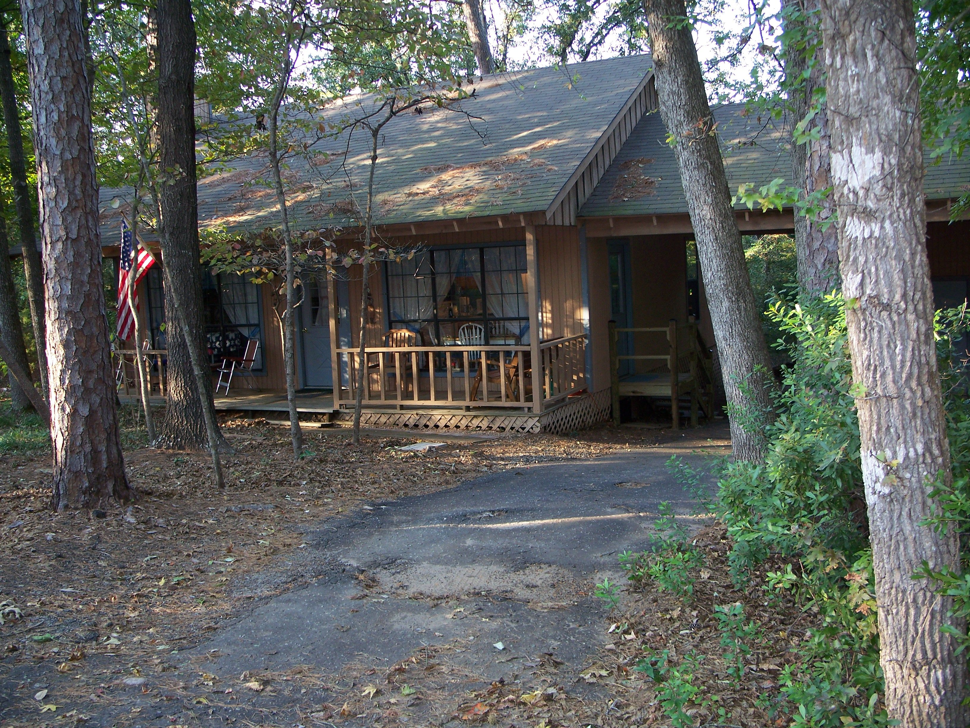 Our very first cabin at holly lake ranch in the piney for Texas cabins in the woods