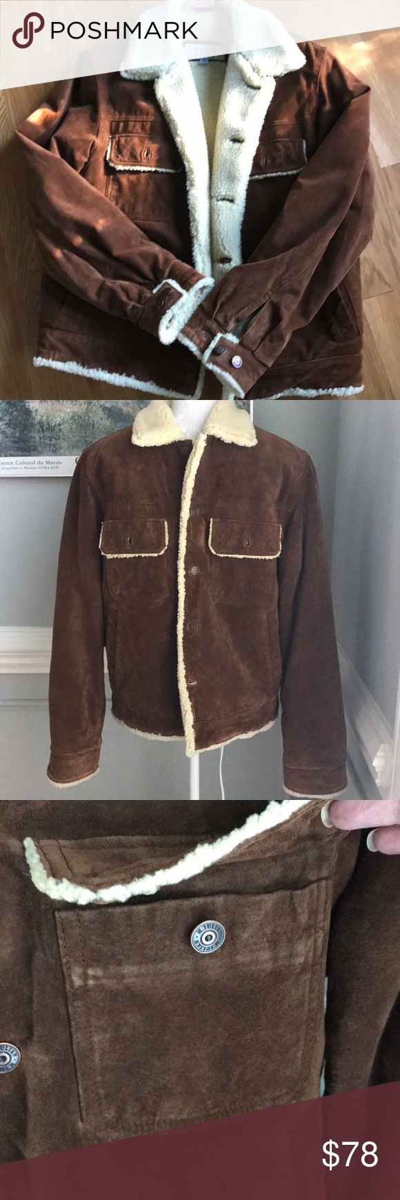 Wilson's Vintage Leather Suede Coat Chesnut (With images