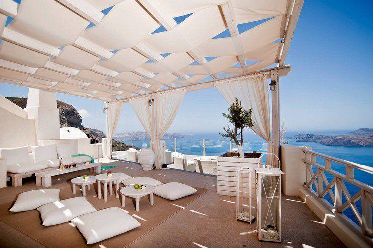 Idée Déco Terrasse Pas Cher Avec Plafond Design, Coussins De Sol