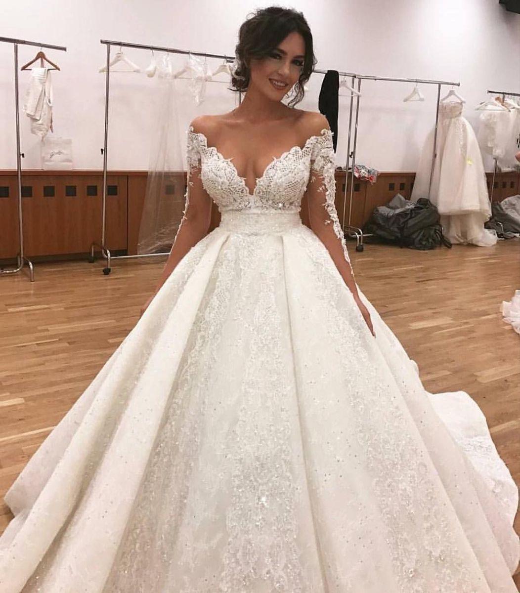 Custom Handmade Wedding Dress Exclusive High Quality Fabric Ball Gown Wedding Dress Ball Gowns Wedding Long Sleeve Wedding Dress Lace [ 1200 x 1052 Pixel ]