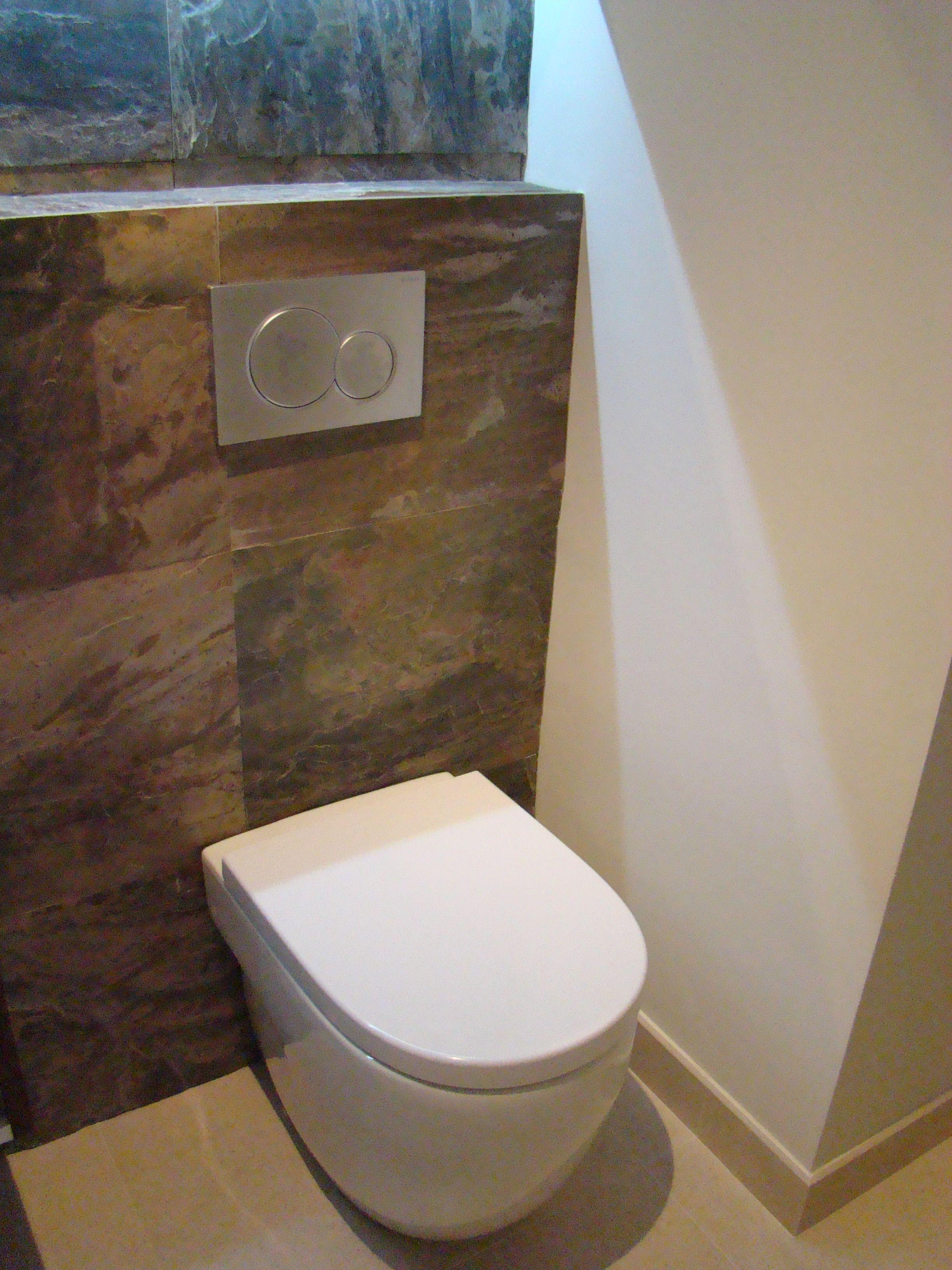 Reforma ba o con sanitario cisterna empotrada y pulsador - Cisterna empotrada ...