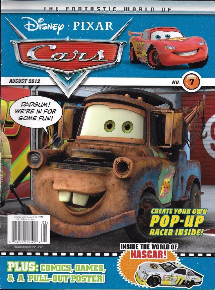 Disney Pixar Cars magazine Puzzles Comics Games Coloring