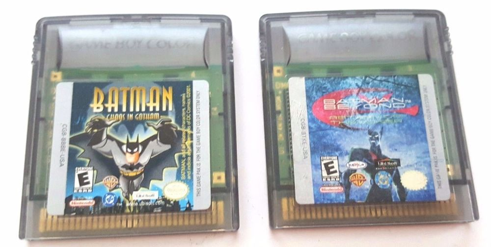 2 Gameboy Color Game Lot Gbc Gba Sp Batman Return Of Joker And Chaos
